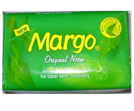 Margo Original Neem Soap - 75g with active Neem Oil, for clear skin, naturally