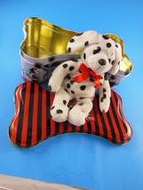 """Disney 101 Dalmations Tin  3"""" x 5 """" x 9 """" Plus  7.5""""  Plush Dog - $6.23"""