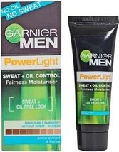 2 X 20 Gram ►Garnier Men Power Light Sweat + Oil Control Fairness Mois... - $9.40