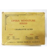 Opera miniature series book by charlotte lund set of 12 in box 1930 - $74.25