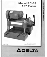 Delta Planer 22-650 RC-33 Instruction Manual - $10.99