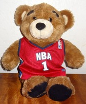 Build a Bear Stuffed Plush NBA 1 Teddy Bear Sports Jersey Basketball  - $25.25