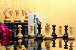 "The Pegasus Artisan Staunton Chess Set in Ebony / Box wood - 4.5"" King - VJ030 - $438.99"