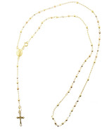 10K Gold Lady Of Guadalupe Rosary Necklace Diam... - $165.62