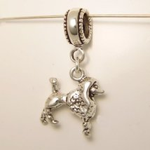 Poodle Dog Sterling Silver Dangle Charm [Jewelry] - $28.49