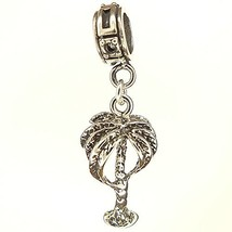 Palm Tree Sterling Silver Dangle Charm [Jewelry] - $22.79