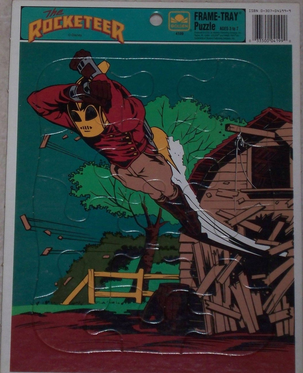 Primary image for Vintage Disney's The Rocketeer 12 Piece Frame Tray Puzzle by Golden