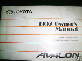 1997 Toyota Avalon Owners Manual - $14.84