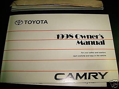 1998 toyota camry owners manual and similar items rh bonanza com 1998 toyota camry service manual 1998 toyota camry service manual