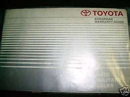 1991 European Toyota Previa Owners Manual - $14.84