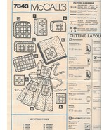 McCall's 7843 Sewing Pattern Patchwork Apron Tablecloth Potholder Applia... - $8.99
