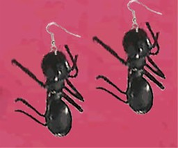 Huge Funky GIANT ANT EARRINGS Picnic Bug Summer Party Insect Gag Costume... - $6.99