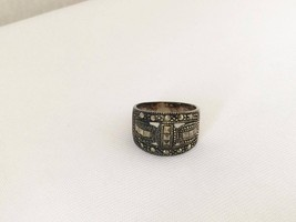 Vintage Sterling Silver Marcasite Band Ring Size 8 - $30.00