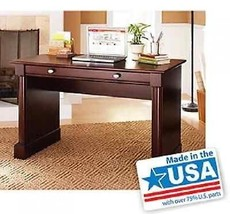 Cherry Wood Desk Writing Laptop Table Computer Workstation Home Office F... - $180.15