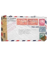 WWII Censored Venezuela Airmail Commercial Cover to US 2 90c C96 Oil Wel... - $8.99