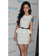SALE.Classy White Peplum Dress. Sleeveless Sheath Dress. Little White Dr... - $85.90