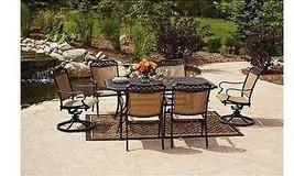 7 Pc Garden Patio Dining Set Outdoor Deck Rectangular Table (6) Chairs O... - $1,632.74