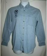 2002 Salt Lake City Denim Blue Jean Shirt Unisex SMALL Utah Olympics But... - $19.23