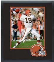 Bernie Kosar Cleveland Browns Circa 1989 - 11 x 14 Team Logo Matted/Framed Photo - $42.95