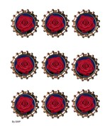 Red Rose Bottlecap-Download-ClipArt-ArtClip-Bottle Cap-Digital - $4.00
