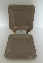 Daniel Cremieux Nouveau Empire Taupe Two Luncheon Plates Square Made in ... - $19.79