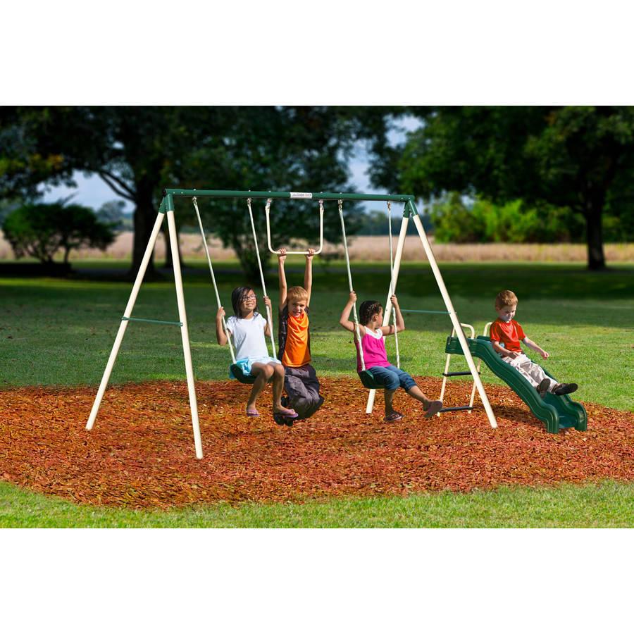 Swing Slide Play Set Kids Outdoor Backyard Playground ...