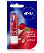 Nivea Lip Care Fruity Shine Cherry, 4.8g Free Shipping - $9.10
