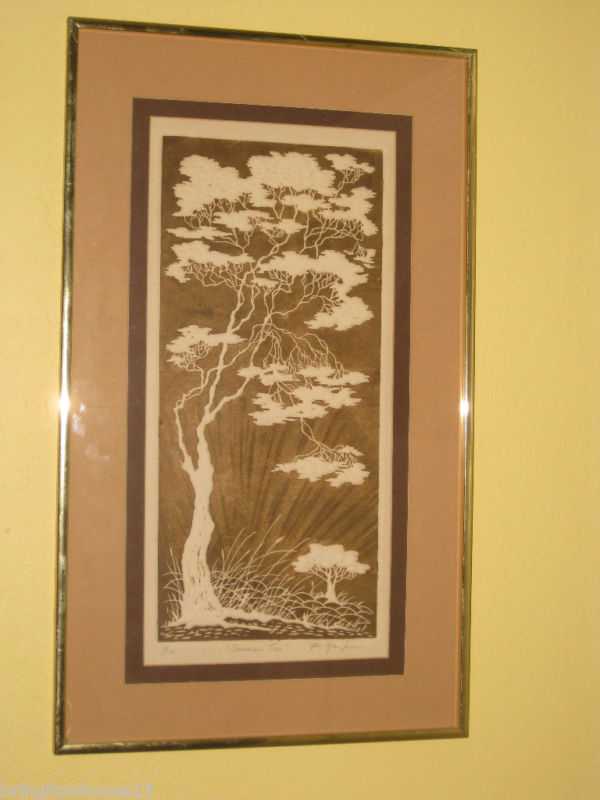 SUMMERS TREE 4/100 INTAGLIO ETCHING AL KAUFMAN SIGNED #