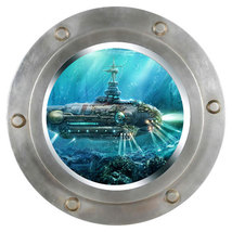 Deep See Porthole Wall Sticker , Wall decal,rem... - $10.99