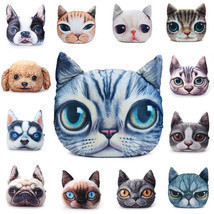2 Sizes Plush Creative 3D Dog Cat Throw Pillows Meow Star Sofa Bed Cushion - €13,04 EUR+