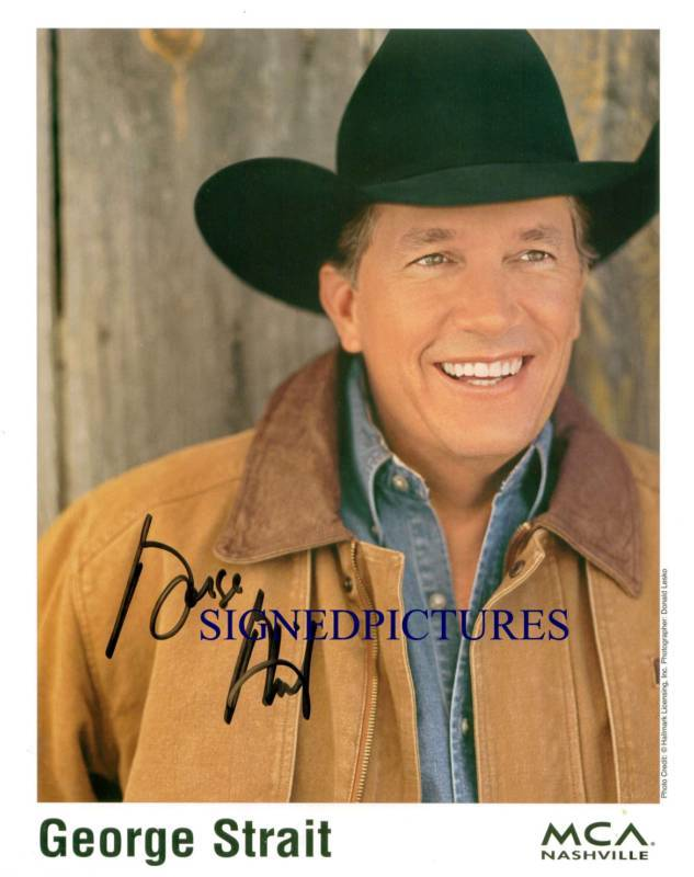 Primary image for GEORGE STRAIT AUTOGRAPHED 8x10 RP PROMO PHOTO PURE COUNTRY STAR