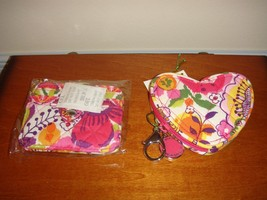 Vera Bradley Clementine Sweetheart Coin Purse And Snap Card Case - $42.49