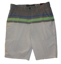 Men's Tony Hawk White & Gray Striped Lightweigh... - $18.99
