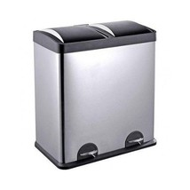 Kitchen Garage Trash Can Step N Sort 16 Gallon 2 Compartment Stainless S... - $146.20