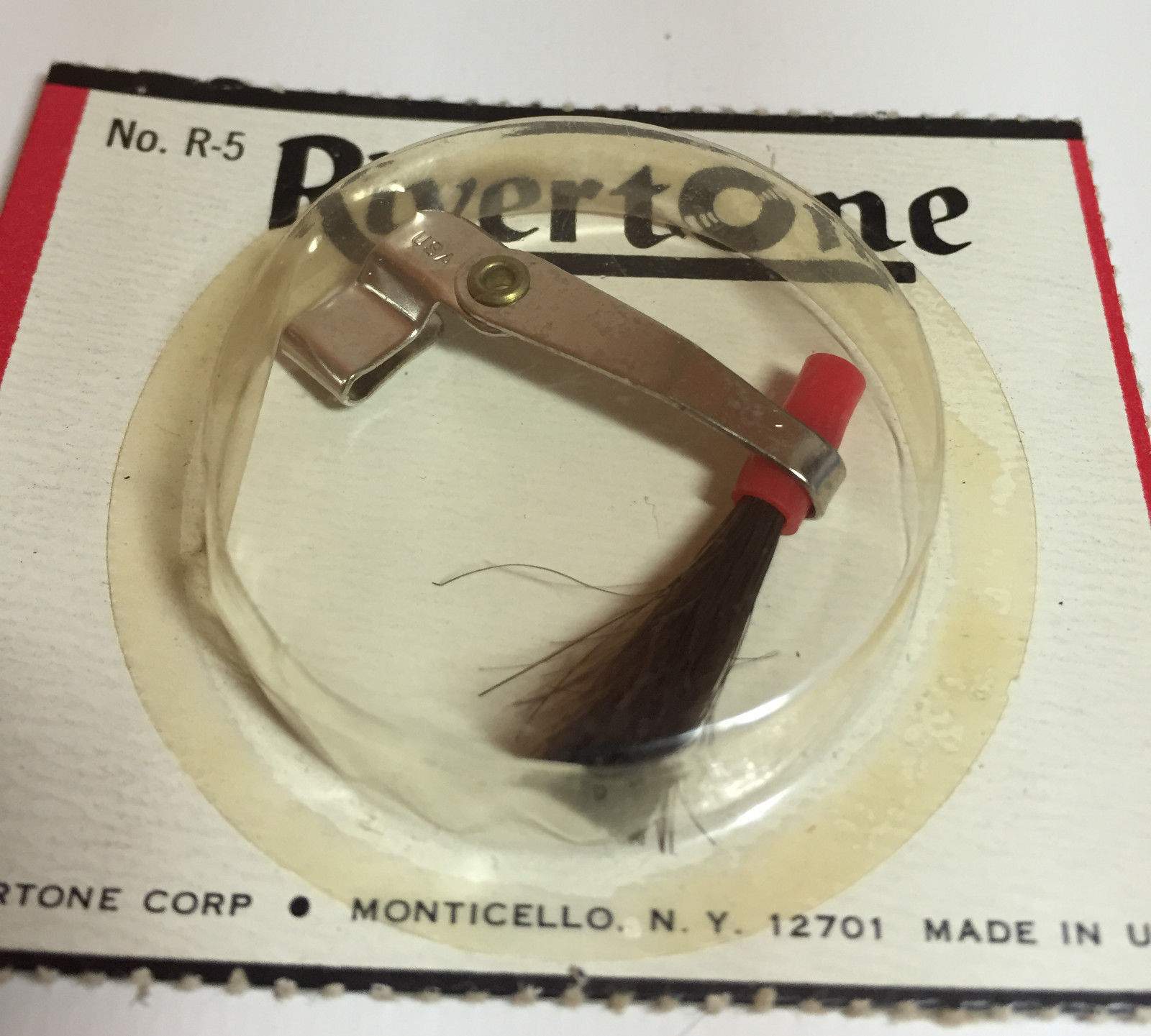 Vintage Rivertone Record Player Stylus Dust Brush