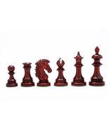 "Indian-American Luxury Series Chess Set in Bud Rose / Box Wood -4.4"" Kin... - $492.99"