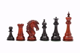 "Ruffian American Staunton Chess Pieces in Ebony/Bud Rose Wood- 4.8"" King - VJ028 - $599.99"