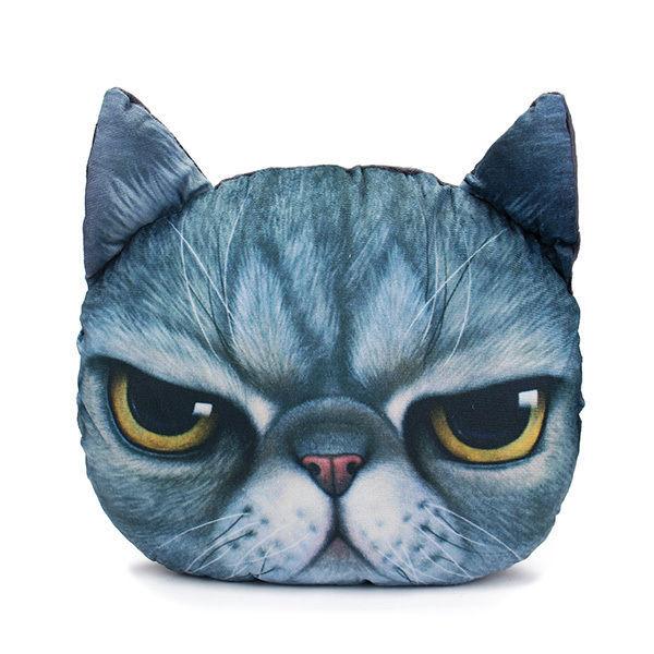 2 Sizes Plush Creative 3D Dog Cat Throw Pillows Meow Star Sofa Bed Cushion