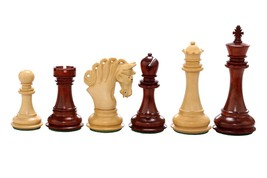 "Pegasus Artisan Staunton ChessSet in Bud Rose Wood / Box Wood - 4.5"" King- VJ031 - $438.99"