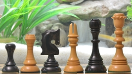 "Reproduced Historic 1929 Barcelona ""Joc Catalan"" Chess Set in Ebony Wood VJ046 - $378.99"
