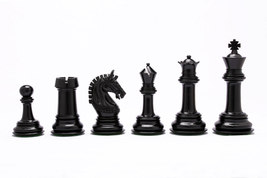 The Indian Chetak Series Staunton Luxury Chess Pieces in Ebony Wood VJ045 - $389.99
