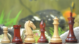 "The Staunton Series Chess Pieces in Bud Rose Wood & Box Wood - 4.2"" King VJ043 - $370.99"