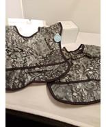 Koala Baby E Z EZ Wipe Plastic Bibs Black lace- New lot of 2 - $12.19