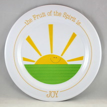 """Joy"" Kids Plate Brand NEW The Fruit Of The Spirit BPA-Free & Non-Breakable - $12.66"