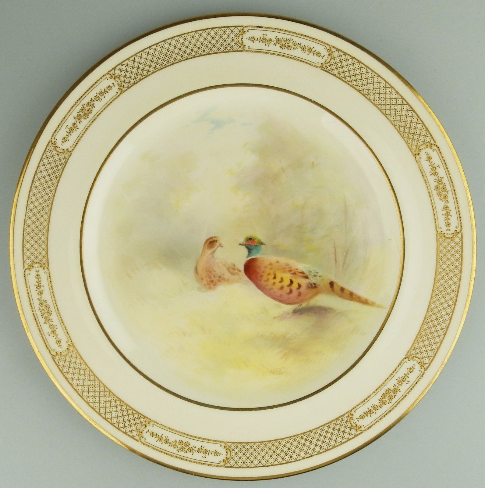 Royal Doulton Antique Porcelain Good h/pu0027ted Cabinet Plate by T Wilson 2 C.1900  sc 1 st  Bonanza & Royal Doulton Antique Porcelain Good h/pu0027ted and 39 similar items