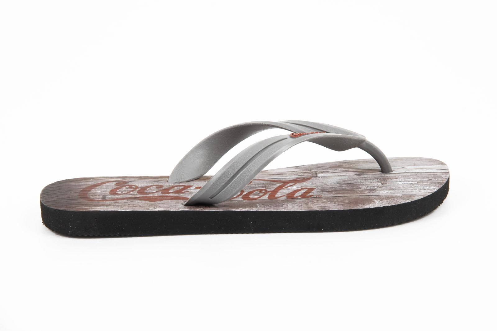 Primary image for Coca Cola mens flip flop CCA0563 WOOD GRAPHITE