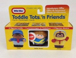 Little Tikes Toddle Tots N Friends 3 Figure Casey Safety Susan New Vinta... - $15.10