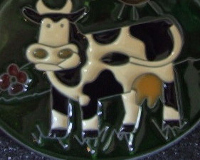 Sweet Cow Suncatcher made in USA by Skybolt 4 inches by 4 inches