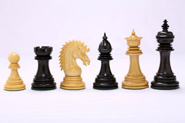 "Ferocious Elite Series Chess Set in Ebony / Box Wood - 4.3"" King VJ040 - $492.99"