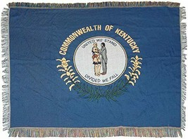 """Kentucky State Flag Woven Tapestry Throw Blanket, 48"""" x 60"""" - $34.64"""
